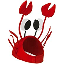 OULII Sombrero de cangrejo Sombreros divertidos para accesorios de decoración de fiesta de Halloween (rojo)