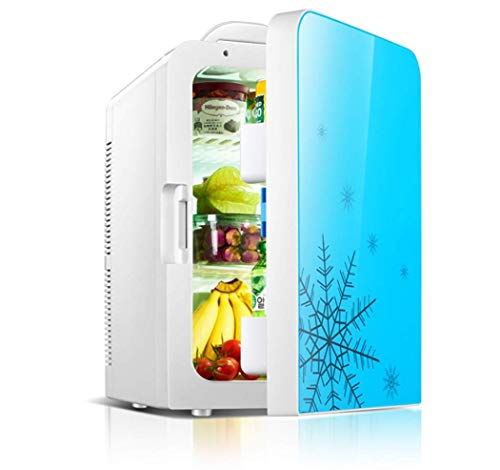 Tcbz 20L Auto Kühler Heizung Tragbare Mini Kühlschrank 12 V DC 220 V Home Office Speisenwärmer Getränkekühler Kühlschränke Reise, Picknick, Camping, Haus und Büro,Blau (Kühlschränke Office)