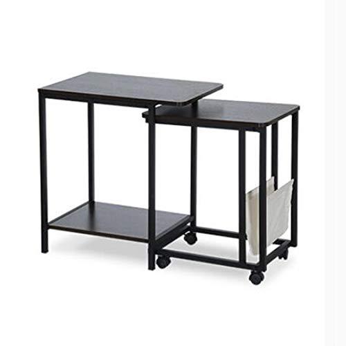 tz Von 2 Couchtische Holz Sofa Tische Für Wohnzimmer Runde Satztische Set Beistelltische Für Balkon Lesetische Für Kinder Mit -Werkbank (Farbe : Yellow Oak - Pulley) ()