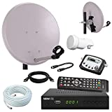 Digital Camping SAT Anlage 40 cm Spiegel + HD Sat RECEIVER + Digitaler SAT Finder + HD single LNB + 10m Kabel