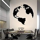 wandaufkleber f Globus für Wohnzimmer