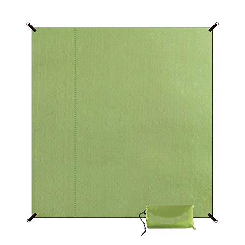 LIAN Store 200 x 200 cm Wasserdichte, Faltbare Picknick-Matte für Outdoor Camping Strand feuchtigkeitsdichte Decke tragbare Campingmatte Wandern Strand Pad,Armeegrün Größe L