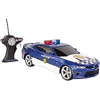Tavitoys-81272P Chevrolet Camaro Coche de policía con Radio Control, Color Azul (Maisto Tech 81272P)