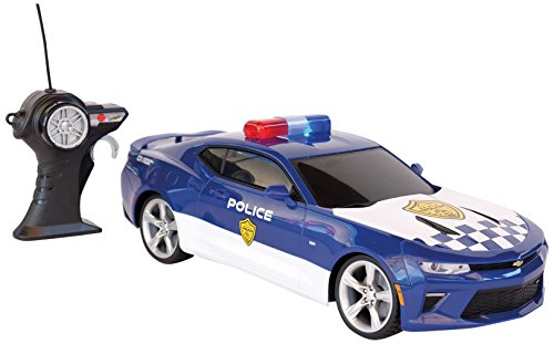 MAISTOTECH Maisto Tech-Chevrolet Camaro Polizeiauto mit Radio Control, blau (81272p)