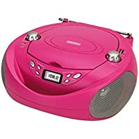 Daewoo DBU-37BL - Radio CD (USB, Digital, FM), color rosa