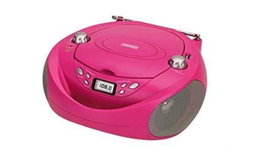 Daewoo DBU-37BL - Radio CD (USB, Digital, FM), color rosa