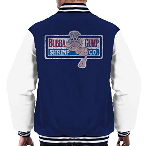 Kostüm Programm Tv - Cloud City 7 Forrest Gump Bubbas Shrimp Co Men's Varsity Jacket
