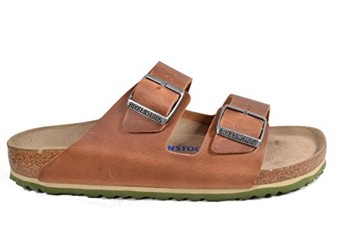 Birkenstock Arizona Leder Softfootbed, Mules Mixte Adulte Braun (Antik Braun)