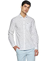 Lee Men's Printed Slim Fit Casual Shirt - B07DMQ39TD