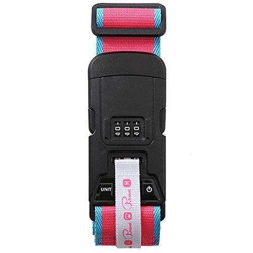 BRG315 Lange Gepäck Verpackung Gürtel Koffer Strap Sicherheitsgurte Koffer Portable Elektronisch Genannt Reise Produkt Passwort Sperre , Pink