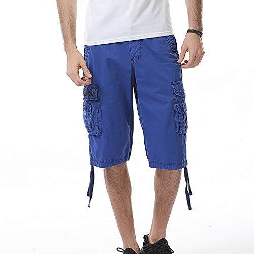 en Für Sport Joggen und Training Shorts Fitness Mit Cargo Shorts Kurze Hose Bermuda mit Gürtel Short Hunter Sweatpants ()