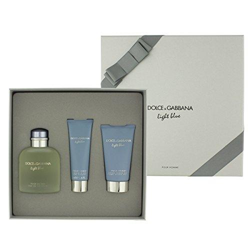 Dolce & Gabbana Light Blue pour Homme Parfüm, after shave balm und Dusche Gel-1Pack