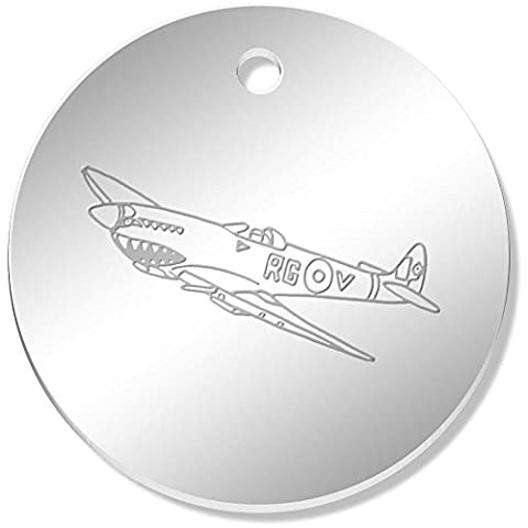 11 x 34mm 'Avion Spitfire' pendentif miroir (PN00040283)