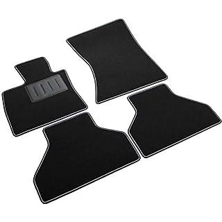 SPRINT00311 Autoteppiche, Autofußmatten, Schwarz, rutschfest, zweifarbiger Rand, Absatzschoner aus Gummi, für X5, E70, X6, E71 Baujahre 2007–2013