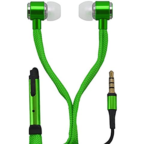 OKCS® auricular In-Ear Headset Earpod micrófono powerful bass cordón de los zapatos Design / control elemento por su iPhone, Sony, Samsung, LG, Huawei, HTC, etc. en verde