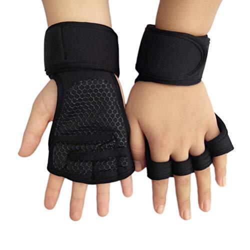 Surenhap Fitness Handschuhe Gewichtheben Sport-Handgelenkstütze Trainingshandschuhe Crossfit Training Gloves-Schwarz, M