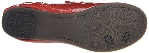 FLY London Damen Feli975fly Peep-Toe Rot (red 001)