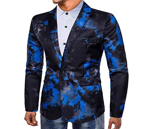 Herren Leichte Jacke Manadlian Mode Männer Herbst Winter Leopard Gedruckt Lange Ärmel Mantel Outwear