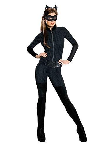 (Rubie's Catwoman-Lizenzkostüm DC-Damenkostüm Catsuit schwarz L)