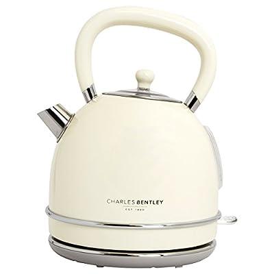 Charles Bentley 3000W 1,7 litre de crème sans fil Dôme Bouilloire Boil rapide 360 ??base pivotante - Garantie de 2 ans gratuit