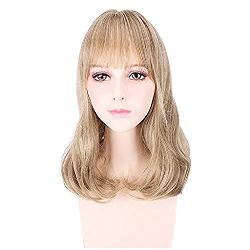 Ylumin parrucca bionda onda naturale ricci lunghi per le donne cosplay festa parrucche ricce lunghe - parrucche naturali, soffici e sexy