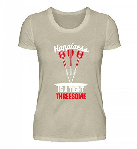 Hochwertiges Damen Organic Shirt - Happiness is a Tight Threesome - Dart Darts Dartscheibe Bullseye