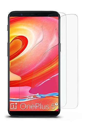 2X OnePlus 5T | Schutzfolie Matt Bildschirm Schutz [Anti-Reflex] Screen Protector Fingerprint Handy-Folie Matte Bildschirmschutz-Folie für OnePlus 5T Bildschirmfolie