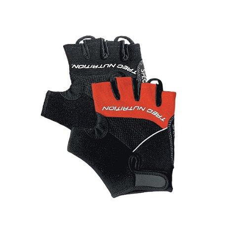 Fingerlos Trainingshandschuhe Fitnesshandschuhe Handschuhe *Fahrradhandschuhe mit Gel Einsätzen auf der Handinnenfläche* ROT/SCHWARZ XL (XL)