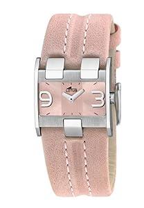 Lotus Lotus 15400-2 - Reloj analógico de mujer de cuarzo con correa de piel rosa - sumergible a 30 metros