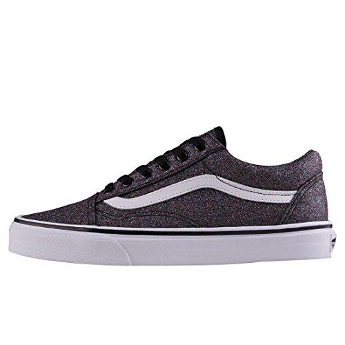 Vans Old Skool, Sneaker Donna Nero (Glitter)