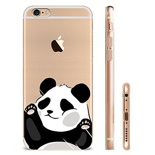 Iphone 6splus Hülle Panda Silikon TPU Schutzhülle Ultradünnen Case für iPhone 6plus/6splus panda27