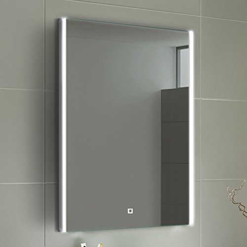 Bathroom mirrors with led lights amazon 700 x 500 mm modern illuminated led bathroom mirror light touch sensor ml3100 mozeypictures Image collections
