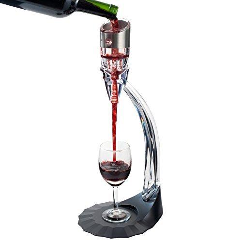 Secura aeratore del vino chiaro vino decanter aeratore distributore pompa aeratore decantatore di vino con base per il vino rosso