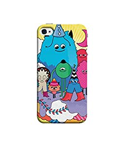 Kaira High Quality Printed Designer Soft Silicone Back Case Cover For Apple iPhone 4s (19031_illsts)