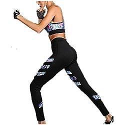 Morbuy Yoga Conjunto de Mujer, Mujeres Chaleco Deportivo Top and Leggings Gimnasio Ropa Chándal Yoga Fitness Deportes Estiramiento (L)