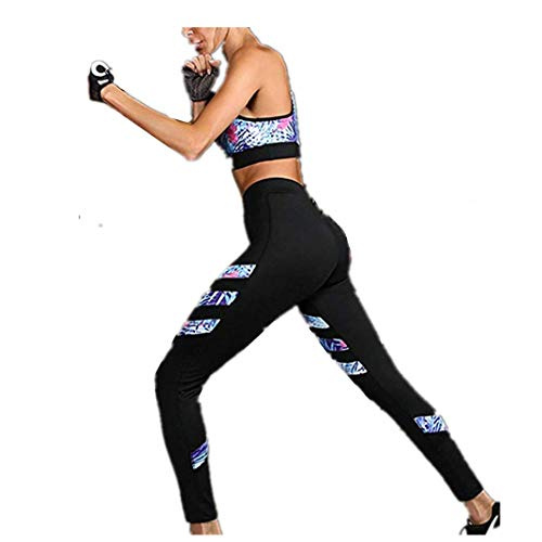 Morbuy Bekleidung Yoga Set, Komfort Damen Sport BH Jogginghose Sport Leggings Yoga Hose Trainingshose Sport Bustier ohne Bügel Yoga Fitness Training (S)