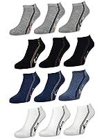 6 bis 24 Paar Herren Sneaker Socken Baumwolle Schwarz Weiß Jeans Grau Farbwahl Herrensocken - 16871 - Sockenkauf24