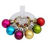 Gaddrt 6pcs vino vetro ciondoli Anelli Marker Natale addobbi feste party bar–in lega di zinco C