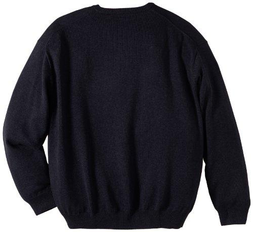 GANT Herren Pullover SOLID COTTON V-NECK Blau (Navy)