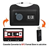 Portable Cassette Player, Digital Audio Music Recorder Tape to MP3 Converter Save into