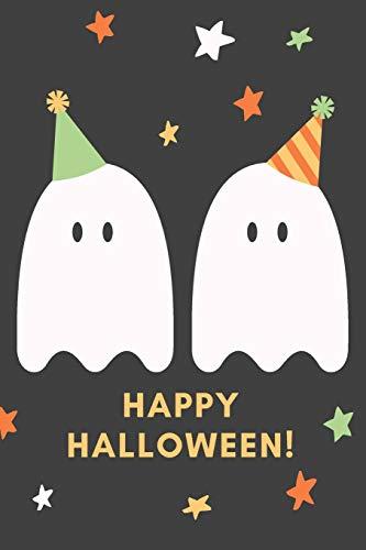 Hexe Kostüm Teenager - Happy Halloween!: Das 120 Seiten linierte Notizbuch ca. A5 Format. Das perfekte Geschenk für alle Halloween Fans, wenn es nichts Süßes oder Saures sein soll.