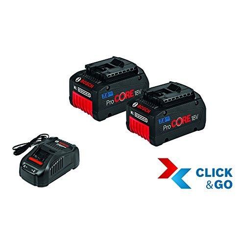 Preisvergleich Produktbild Bosch Akku-Starter-Set 1600A013H4 Clic 2 x ProCore 18,0 V 7,0 Ah + GAL 1880 CV, 18 V