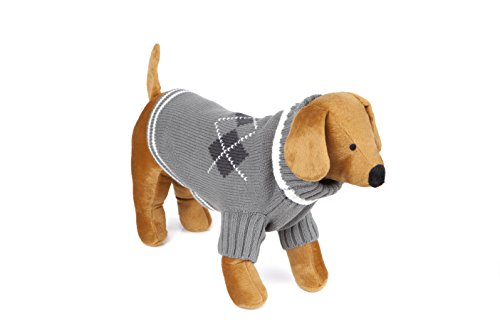 Doggy Things Jersey para Perros con diseño Tradicional de Rombos
