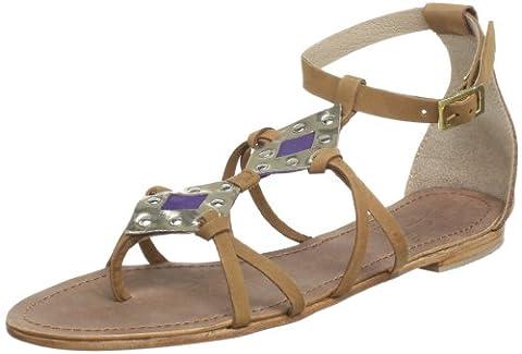 Black Lily Womens cannes sandal Sandals Beige Beige (tan) Size: 41