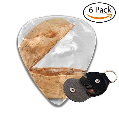 Wxf Empty Nutshell Original Case For Your Christmas Surprise Stylish Celluloid Guitar Picks Plectrums For Guitar Bass 6 Pack.71mm - Bass Guitar Pack