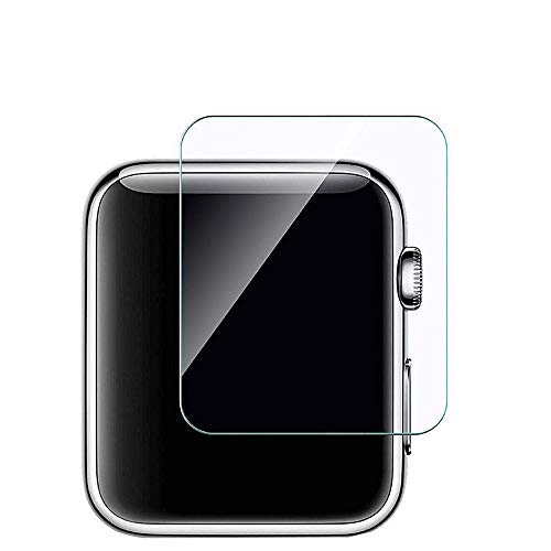 H.eternal Kompatibel für Apple Watch Series 1/2/3 38mm 42mm Schutzhülle Transparent 3-Pack-Glasscheibe Screen Protection Film Gehäuse Schutz Schutzeigenschaft Hülle für Apple Watch (42mm, Clear) (Display-gehäuse Für Messer)