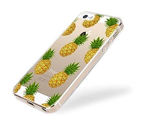 Étui iPhone 5, iPhone 5S, étui, ruirs Nice Fashion Creative Design Coque en silicone TPU Bumper Housse Coque Etui pour iPhone 5/5S (Ananas)
