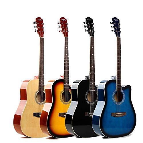 North King Balada acústica 41 Pulgadas de Guitarra Adultos Instrumentos de música Perfecto Regalo de Guitarra Madera de Tilo para los Amigos