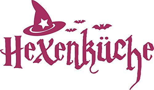 GRAZDesign Küchen Wandtattoo Hexenküche - Küche Aufkleber Schönes Motiv Hexenhut - Wandtattoo für Küche Halloween / 51x30cm / 821 Magnolia