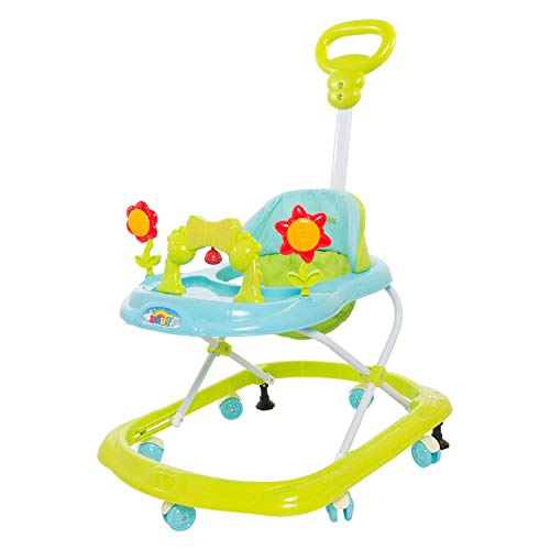GoodLuck Baybee Round Baby Walker Cum Rocker for Kids | Music & Light Function with Parent Control Push Bar and Stopper,Fun Toys & Activities for Babies/Childs (6 Months to 2 Years) (Green)